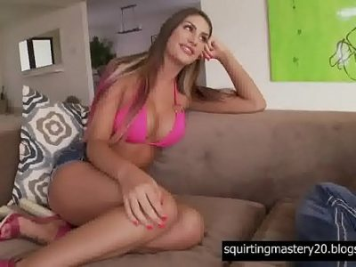 Divine bitch Madelyn Monroe takes a part in a dirty Threesome